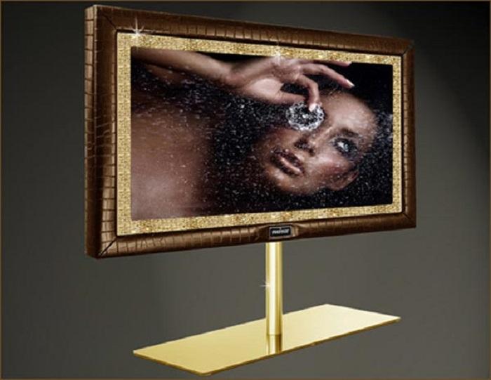 televisores oro claro diamantes efectos