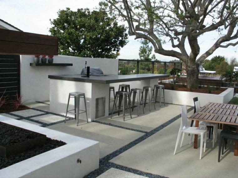 terraza moderna barra bar cocina