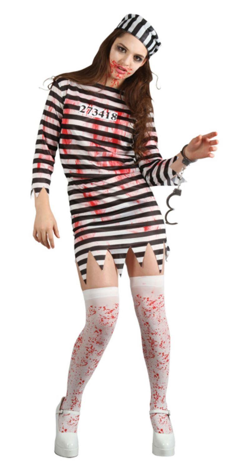 traje carcelera asesina vestido