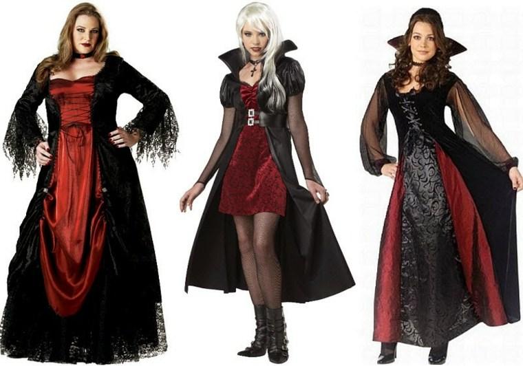 trajes bruja terciopelo color rojo