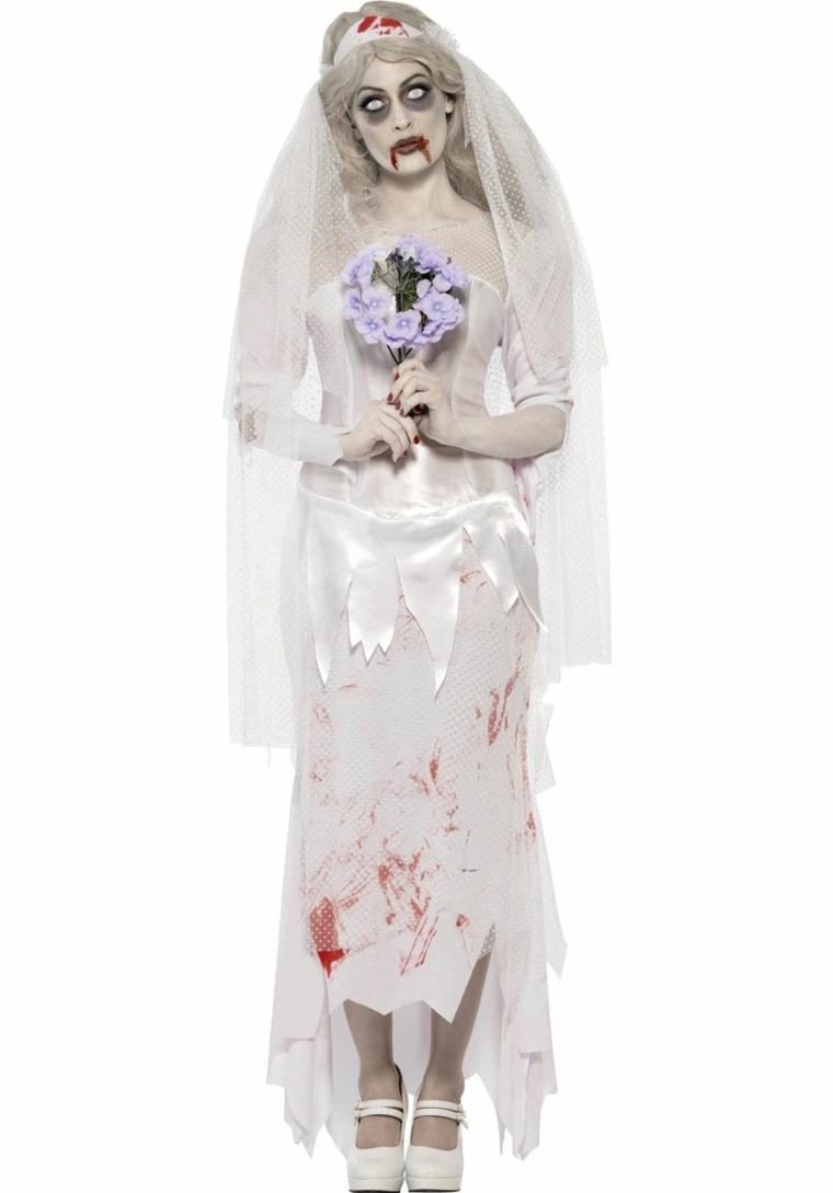 traje novia sangrienta zombi