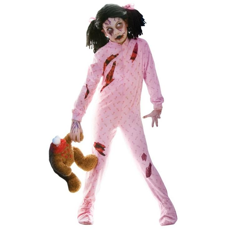 traje nina pijama zombie