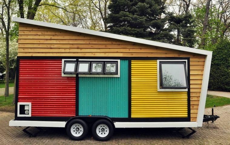 tu casa portable ruedas colorida ideas