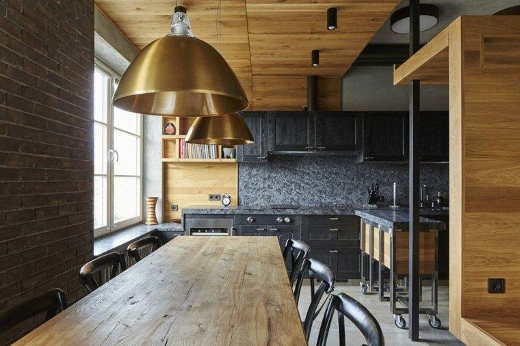 un apartamento singular madera negro