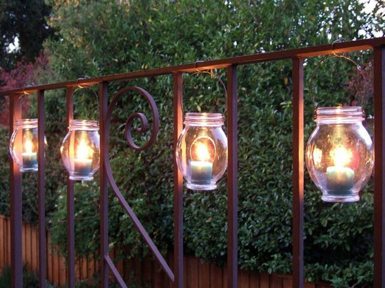 velas decorativas colgantes jardín