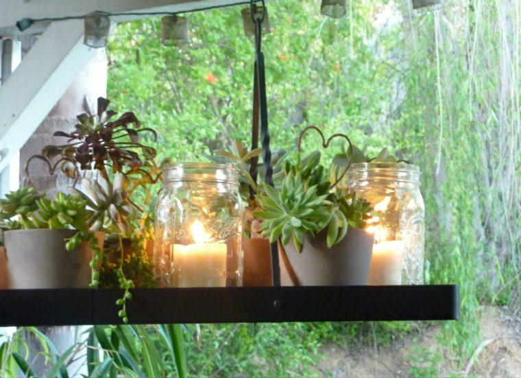 velas decorativas plantas flores