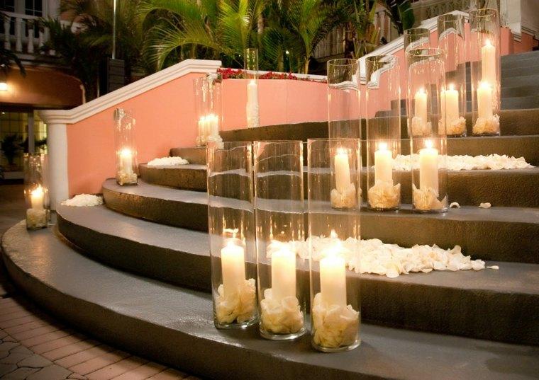 velas grandes recipientes alargados