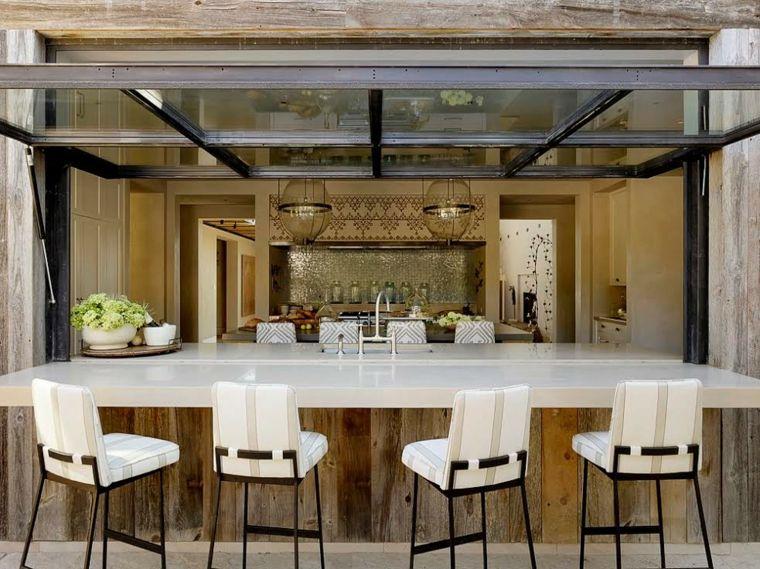 Bares y cocinas en el jard n 24 ideas para inspirarte - Cocina exterior ...