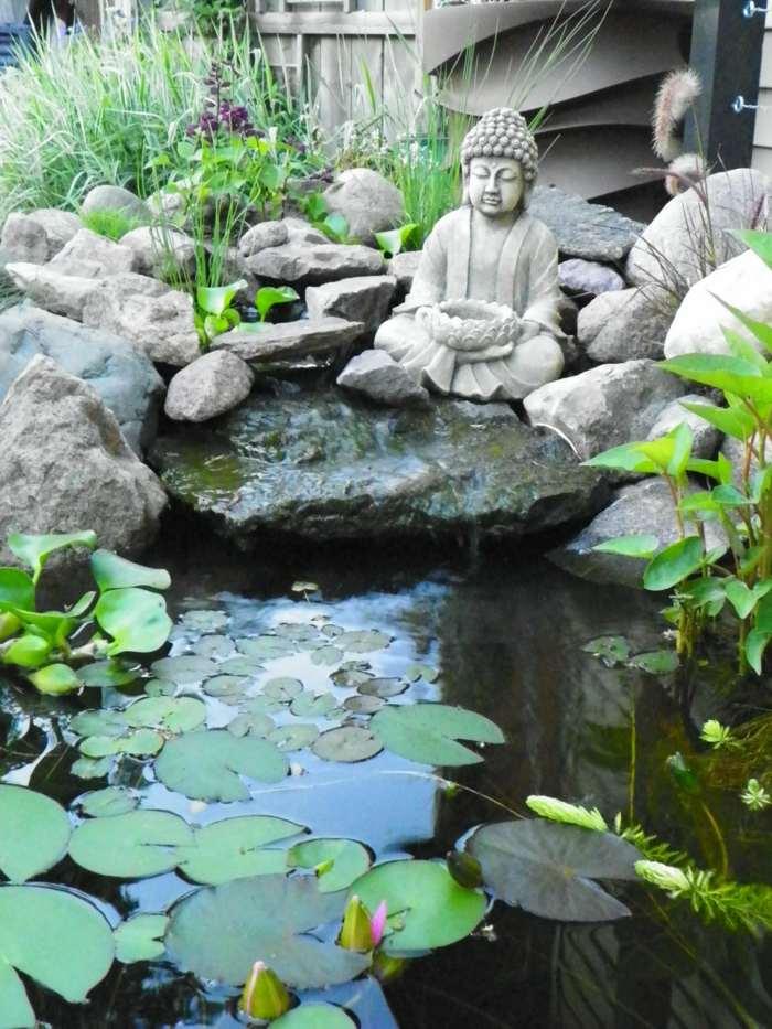 zen detalles relajante muebles peces