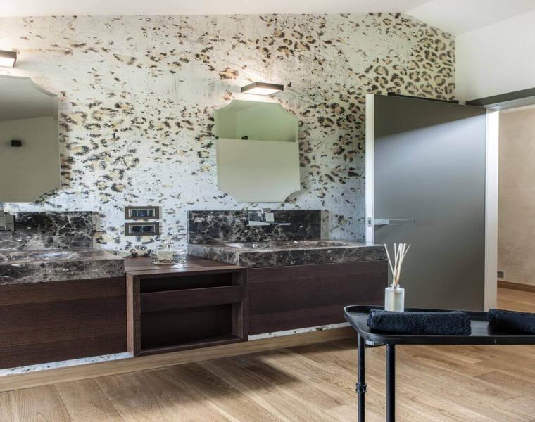 cuarto bano lujoso diseño paredes