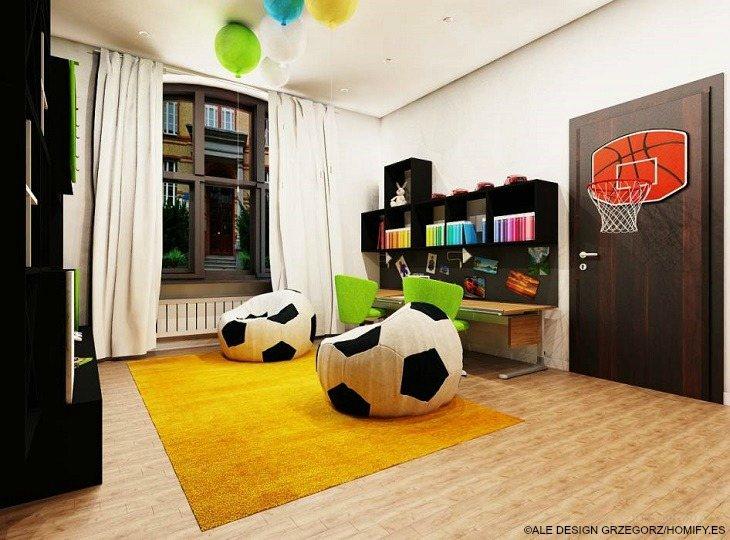 habitaciones juveniles ALE DESIGN GRZEGORZ GRZYWACZ alfombra amarilla