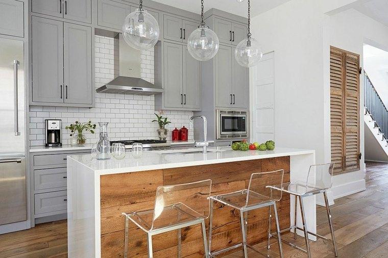 cocina preciosa diseno isla madera Wellborn + Wright ideas
