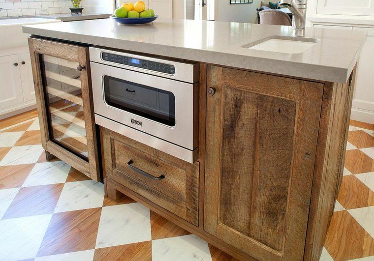 cocina diseno madera reciclada ideas JWT Associates