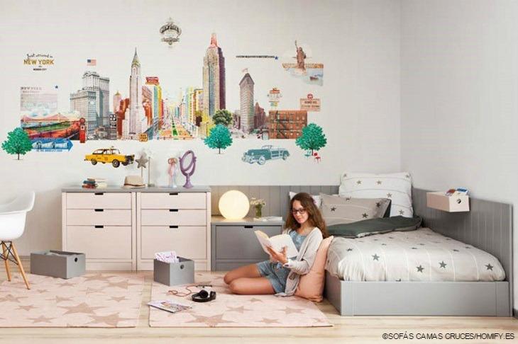 SOFAS CAMAS CRUCES habitacion vinilos decorativos estilos