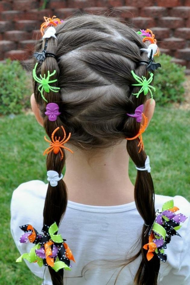 accesorios halloween peinados fuentes arañas