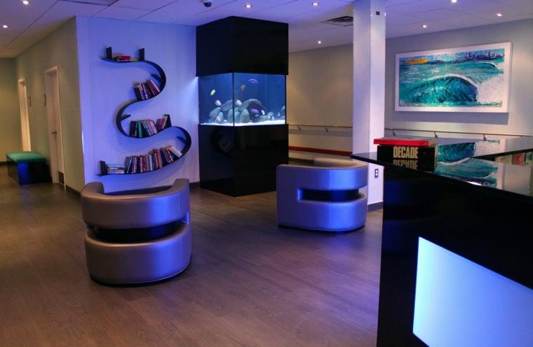 acuario decorativo pared