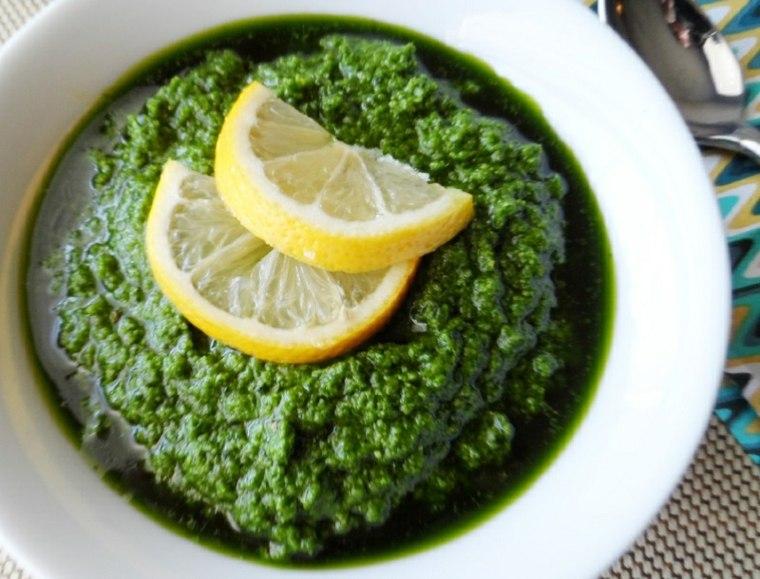 alcachofas en salsa limón pasta