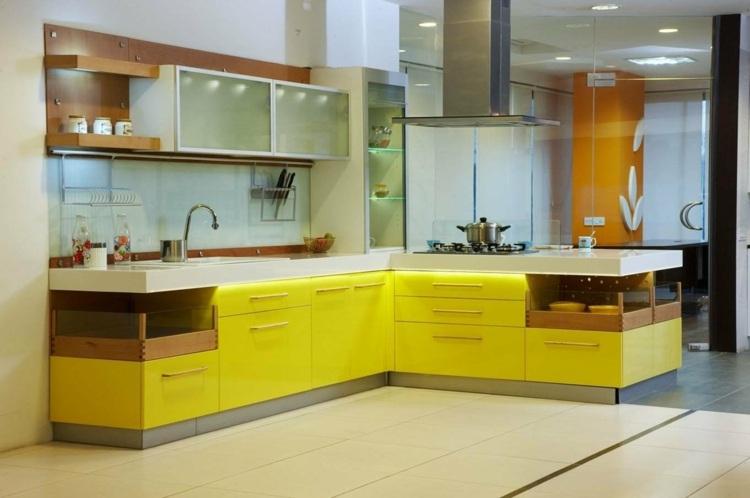 amarillo conceptos cocinas modernas claros