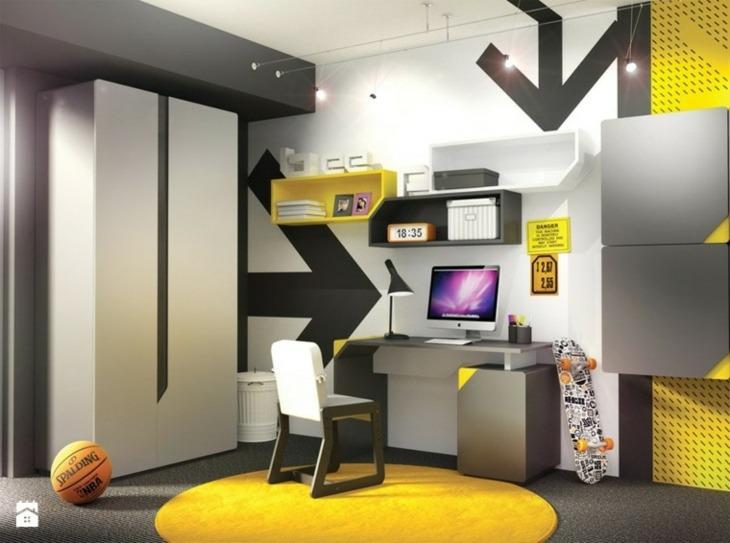 amarillo detalles decorativos fuentes escritorio