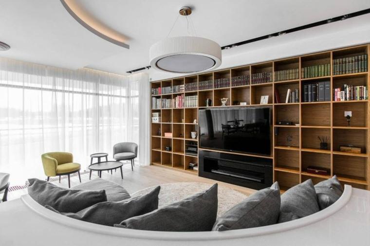 apartamento salon moderno diseno Architectural Bureau Sretenka ideas