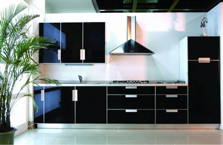 armarios de cocinas negro