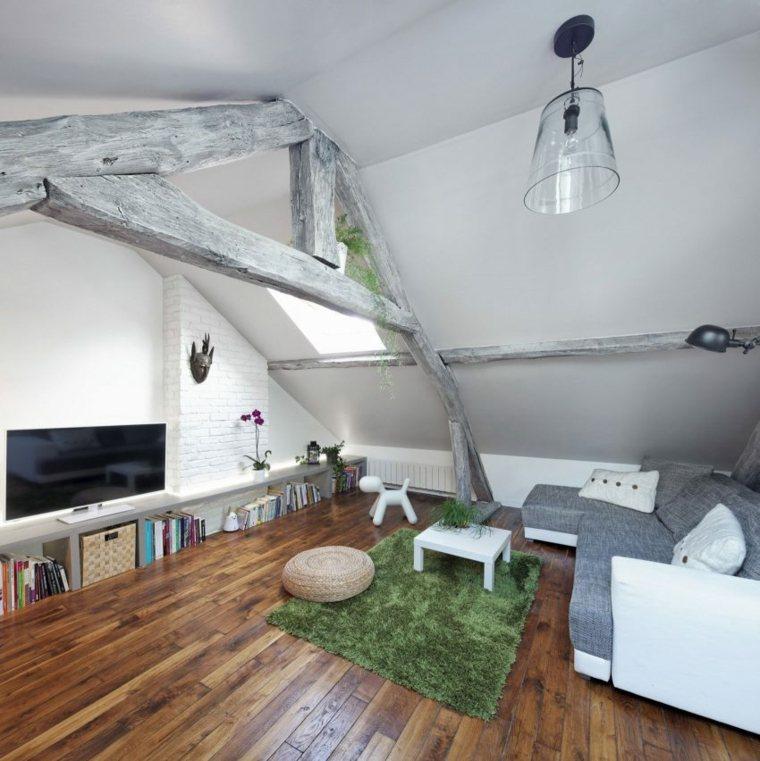atico muebles funcionales estilo verdes