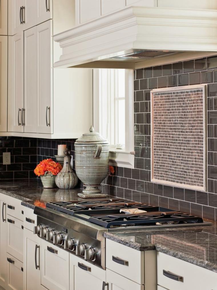azulejos cocina armarios materiale naranjas