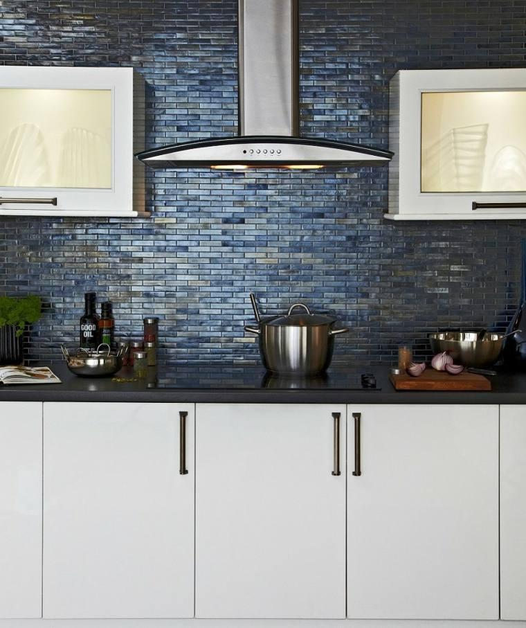 azulejos cocina grises materiales cristales