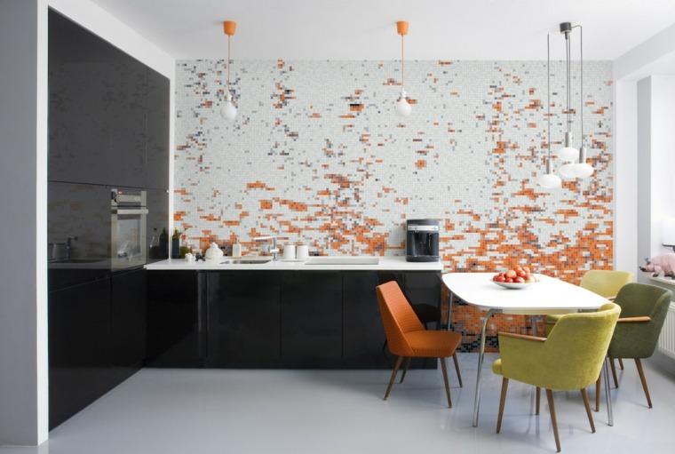 Azulejos cocina de dise os con tonalidades y texturas for Alicatados de cocinas
