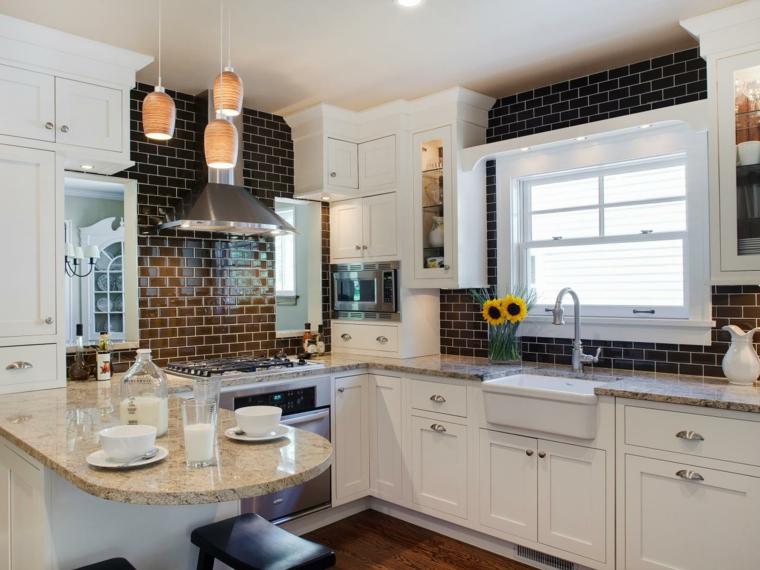 azulejos cocina superficies pulidas granito