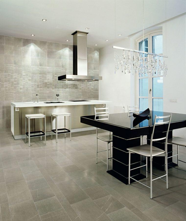 azulejos cocinas estilois materiales metales