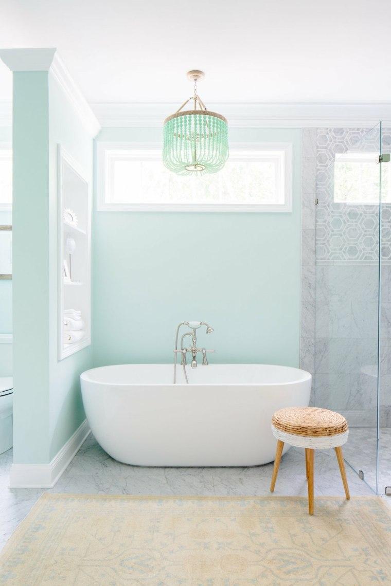 baño color menta