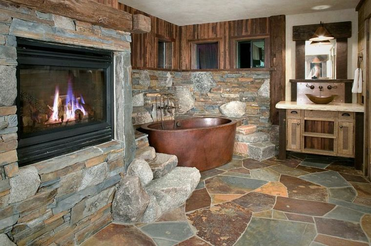 Suelo radiante de piedra 34 opciones originales - Suelo piedra natural ...