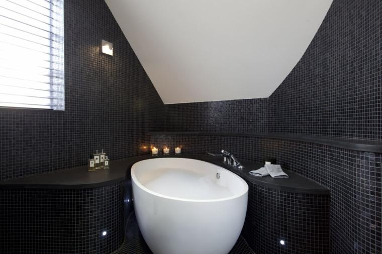 baños originales bañera redonda