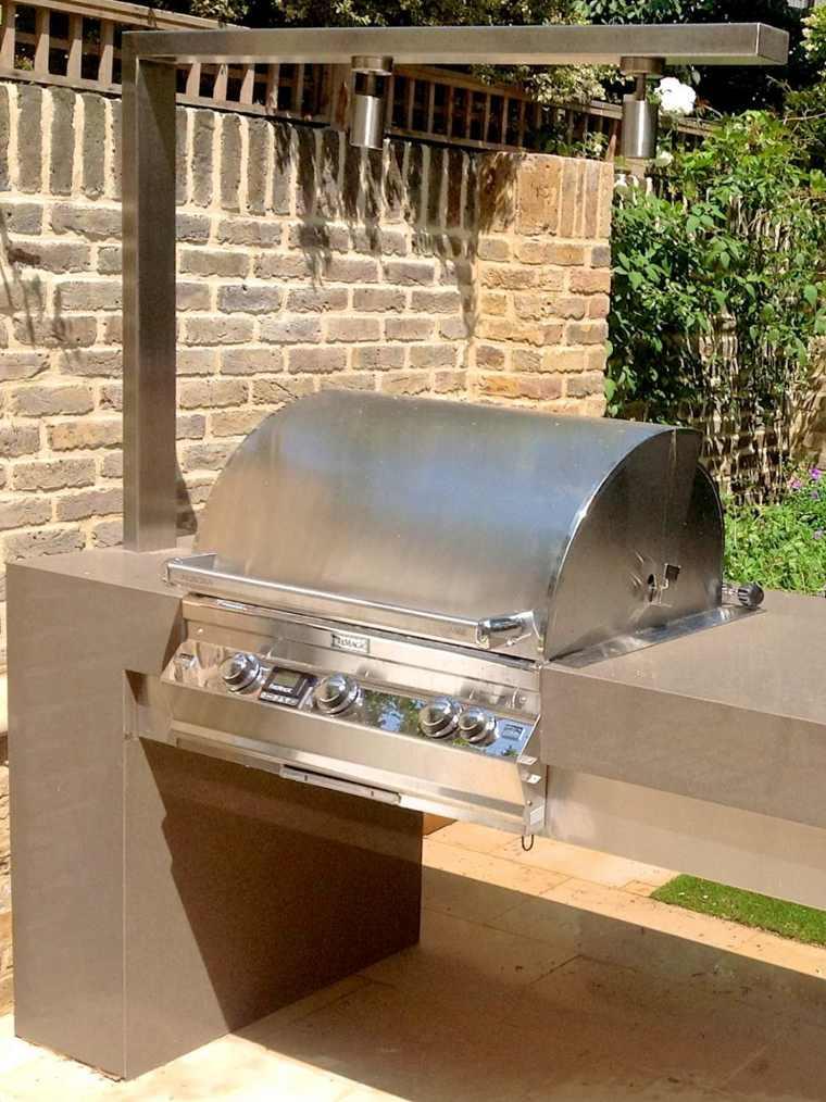 Barbacoas y muebles de cocina para el jard n 34 ideas - Barbacoa diseno moderno ...