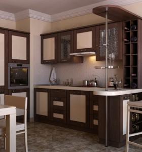 Dise o cocinas abiertas al sal n pr cticas y funcionales for Barras de cocina de madera