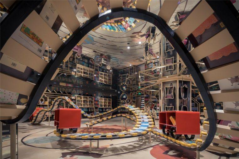biblioteca china interior