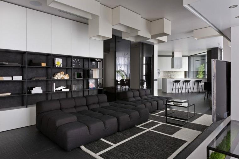 blanco negro diseno salon Lera Katasonova Design ideas