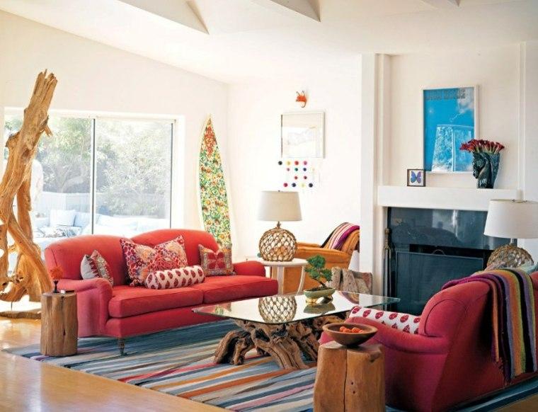 bonita decoración sala de estar