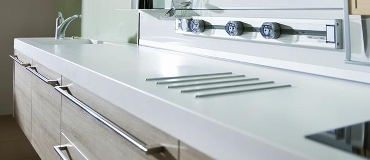 materiales apropiados para la encimera de la cocina superficies slidas