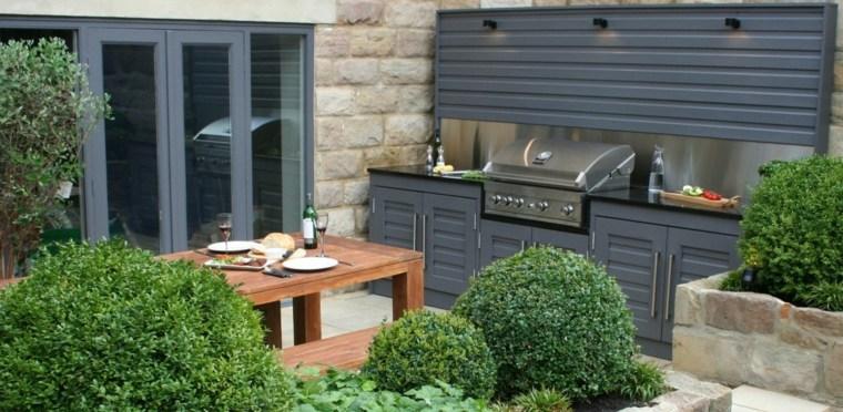 bonita cocina lujosa moderna jardin