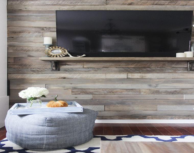 Revestimiento paredes con palets un proyecto que te - Forrar pared con palets ...