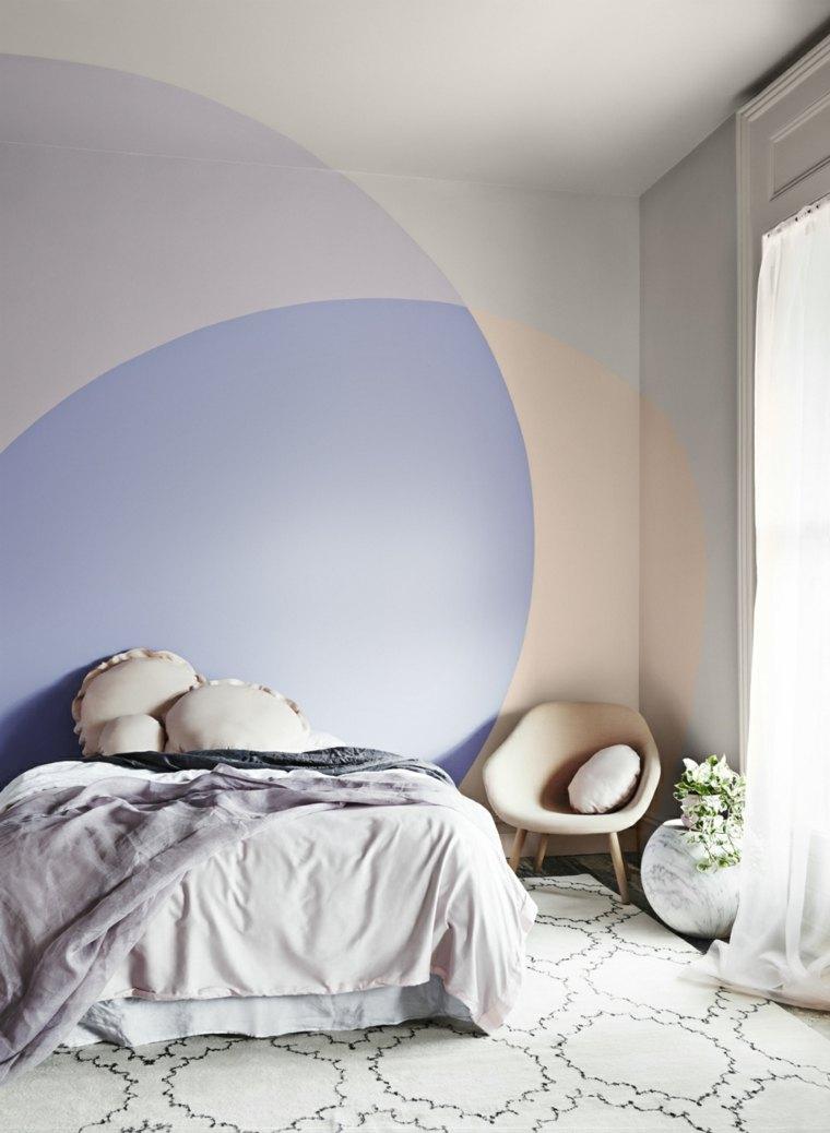 bonitos tonos pastel dormitorio