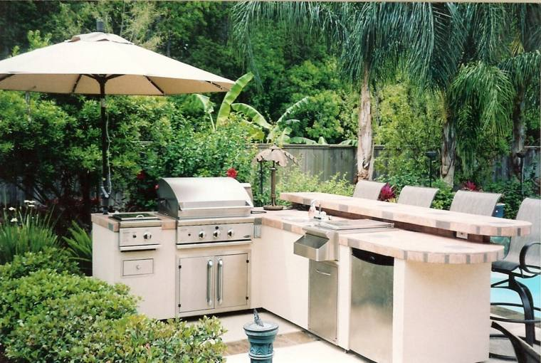 bonita terraza muebles cocina