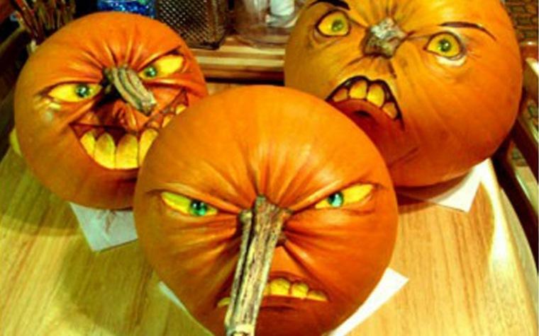 calabazas de halloween al revés