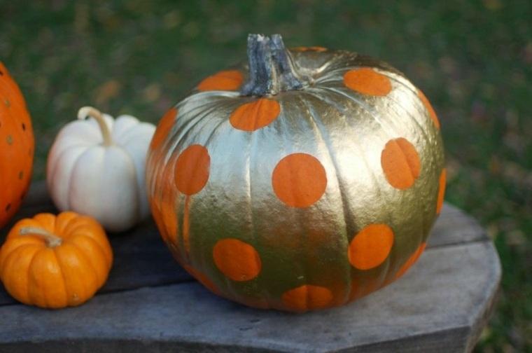 calabaza de halloween círculos