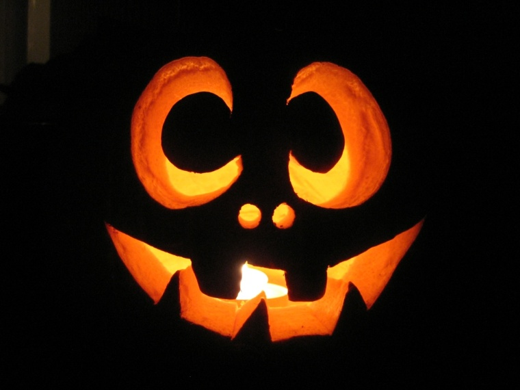 calabazas de halloween cara