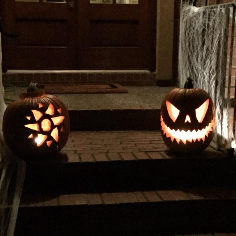 calabazas de halloween escaleras