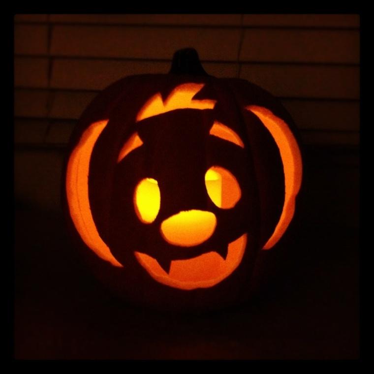 calabazas de halloween rostro
