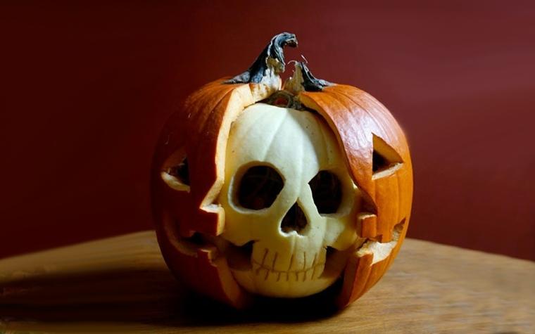calabazas para halloween cráneo
